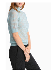 Leona by Leona Edmiston - Soft Mint Short Sleeve Pointelle Knit