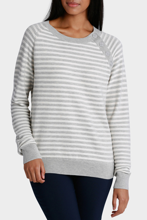 Hi There From Karen Walker - Stripe Jumper with Button Collar