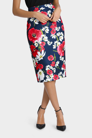 Leona by Leona Edmiston - Poppy Daisy Print Pencil Skirt
