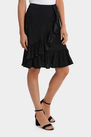 Hi There From Karen Walker - Black Ruffle Skirt