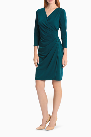leona by leona edmiston teal draped jersey dress myer online accessories intimate apparel womens and mens footwear homewares toys excludes electrical sunglasses millinery watches and cosmetics