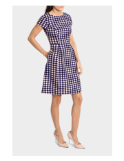 Spot Jacquard Fit and Flare Dress