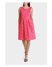 Hi There From Karen Walker - Strawberry Texture Midi Dress