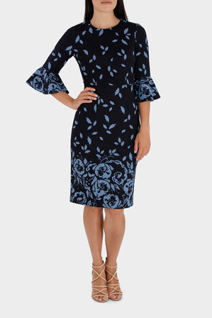 Leona by Leona Edmiston - Border Print Silhouette Dress