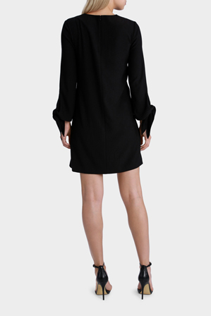 Hi There From Karen Walker - Black Tie Sleeve Dress