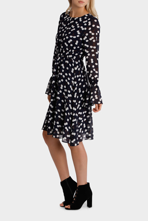 Hi There From Karen Walker - Cherry Print Dress with Sleeve Detail