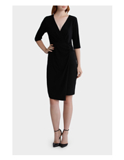 Leona by Leona Edmiston - Loop Wrap Dress with Asymmetric Hem
