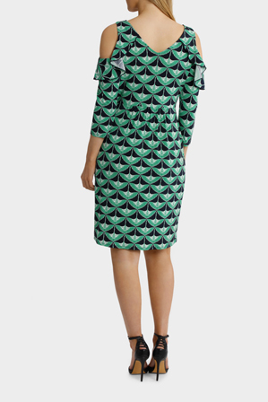 Leona by Leona Edmiston - Cold Shoulder Nightingale Print Dress
