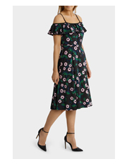 Leona by Leona Edmiston - Off Shoulder Full Skirt Dress
