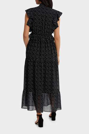 Hi There From Karen Walker - Ruffle Spotted Midi Dress