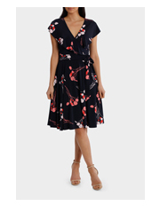 Leona by Leona Edmiston - Wild Cherry Frill Swing Dress