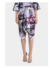 Jayson Brunsdon Black Label - Tie Front Lilac Bloom Skirt