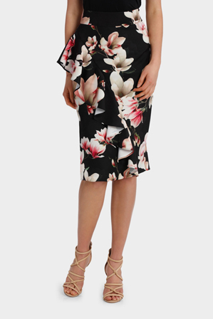 Jayson Brunsdon Black Label - Floral Ruffle Detail Skirt
