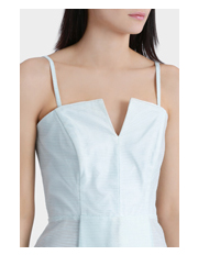 Jayson Brunsdon Black Label - Ice Blue Ottoman Strapless Dress