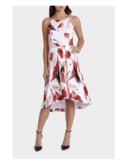 Jayson Brunsdon Black Label - Tropic Floral High Neck Detail Dress