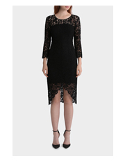 Jayson Brunsdon Black Label - Lace Dress With Hem Detail