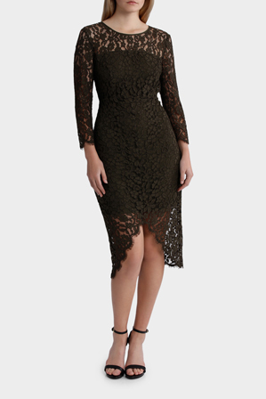Jayson Brunsdon Black Label - Lace Dress W/ Hem Detail