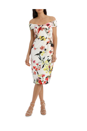 Jayson Brunsdon Black Label - Blossom Twist Front Shift Dress
