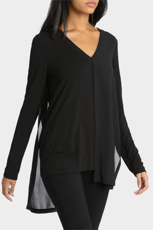 Wayne Cooper - Double Layer Long Sleeve Top