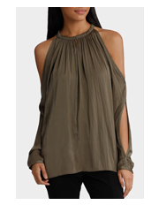 Wayne Cooper - Split Cold Shoulder Top