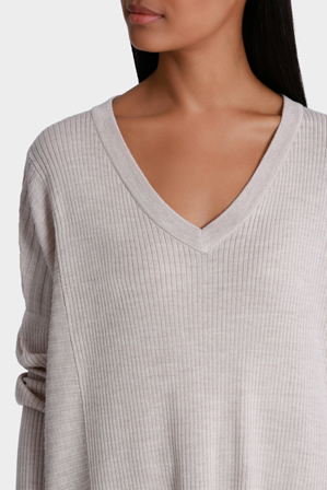 Wayne Cooper - Rib Oversized Long Sleeve Jumper