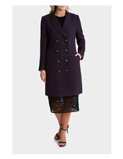 Wayne Cooper - Military Button Front Longline Coat