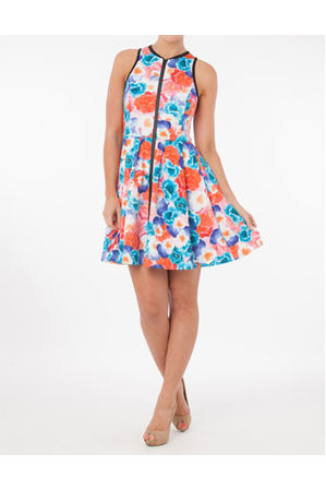 Wayne by Wayne Cooper - Pocket Posies Bind Detail Dress