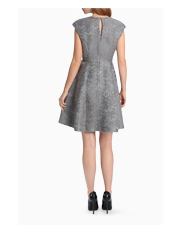 Wayne Cooper - Floral Jacquard Fit and Flare Dress