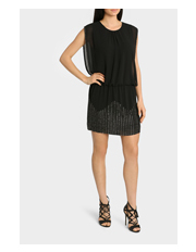 Wayne Cooper - Black Beaded Blouson Dress