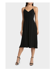 Wayne Cooper - Spaghetti Stap Sparkle Trim Dress