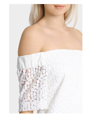 Wayne Cooper - Off The Shoulder Daisy Lace Dress