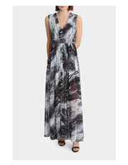 Wayne Cooper - Pleat Front Panelled Maxi Dress