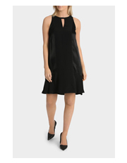 Wayne Cooper - Keyhole Neck Detail Flippy Dress