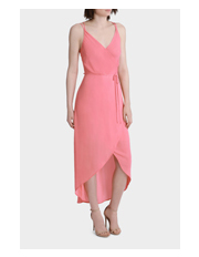 Wayne Cooper - Frill Trim Midi Dress