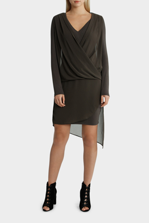 Wayne Cooper - Drape Overlay Dress