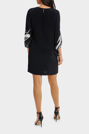 Wayne Cooper - Cold Shoulder Batwing Sleeve Dress