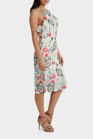 Wayne Cooper - Floral Embroidered Lace Dress
