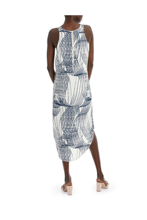 Wayne Cooper - Abstract Linear Print Dress