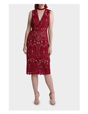 Wayne Cooper Events - Lace High Neck Sleeveless Dress