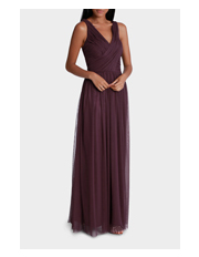 Wayne Cooper Events - Mesh Tulle Wrap Maxi Front Dress