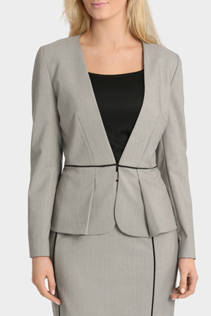 Basque - Piped Collarless Work Jacket