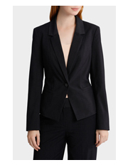 Basque - Check One Button Suit Jacket
