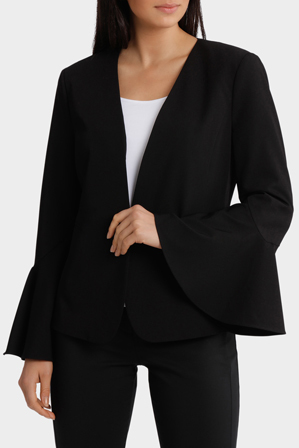 Basque - Drama Sleeve Crepe Jacket