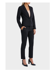 Basque - Navy Pin Dot Suit Jacket