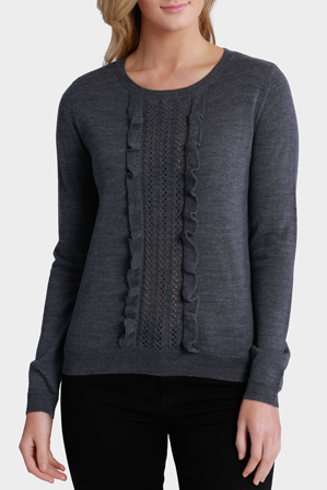 Basque - Cable Frill Front Jumper
