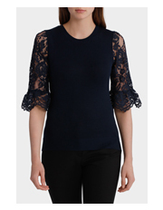 Basque - Lace Sleeve Jumper