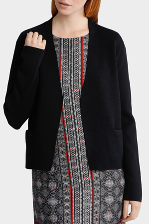 Basque - Edge To Edge Short Cardi With Pockets