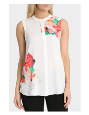 Basque - Placement Floral Longline Shirt