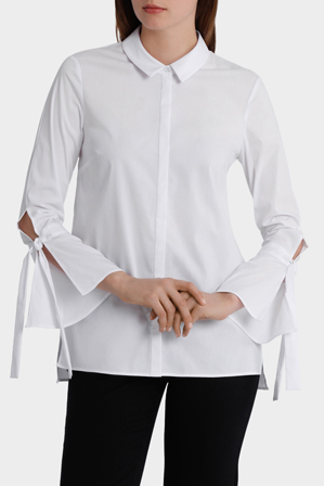 Basque - Fine Stripe Bow Cuff Shirt