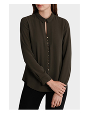 Basque - Gold Button Front Shirt